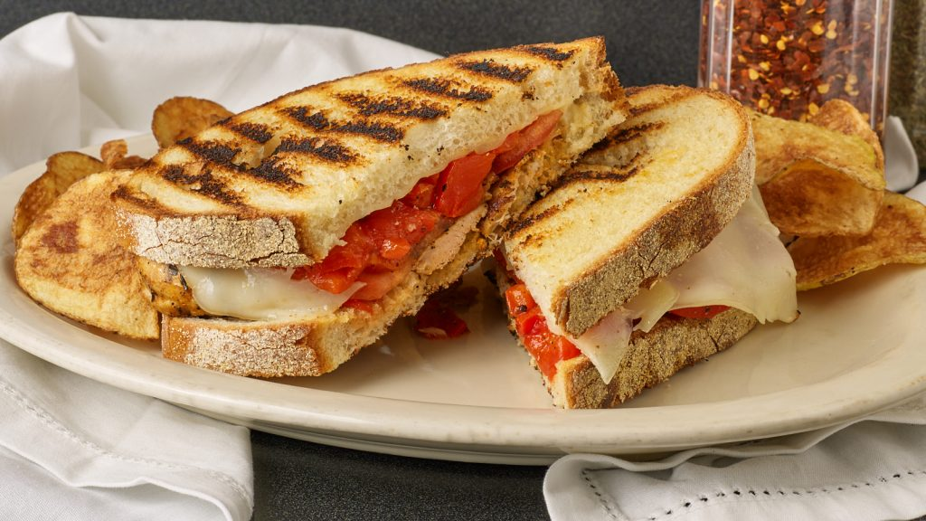 Chicken Roasted Red Pepper Panni